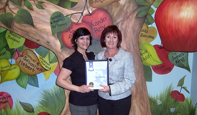 Prime Minister's Award for Excellence in Teaching- with Julie Di Ponio-Roy, founder of the The Children's House Montessori School.